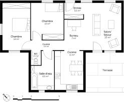 petit plat en chambre cuisine ouverte petit espace 19 plan au sol plan de maison de