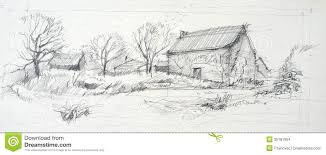 pencil sketches of nature scenes