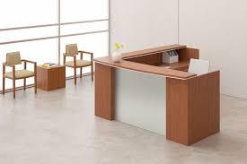 National Waveworks Reception Desk National Waveworks Reception Station With Glass Shelf Accent Top