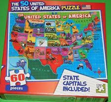 wooden usa map puzzle with states and capitals united states puzzle ebay