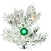 vickerman pre lit 6 5 flocked alaskan artificial tree