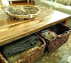 Rustic Coffee Tables With Storage Coffee Tables With Storage Baskets U2013 Dihuniversity Com