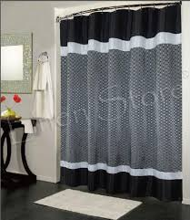 Gray Fabric Shower Curtain Trafalgar Fabric Shower Curtain Jacquard Taffeta Material Black