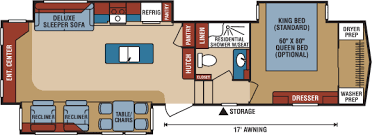 durango 5th wheel floor plans 2017 durango gold fulltime luxury fifth wheel floorplans photos