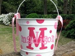 monogrammed easter buckets monogrammed easter basket bunny decal bunny monogram monogrammed