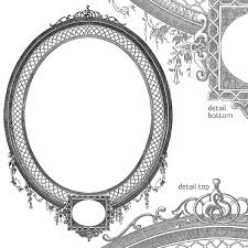 Vector Art Antique Oval Decorative Frame – Highly Detailed