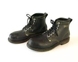 womens black combat boots size 9 90s combat boots etsy