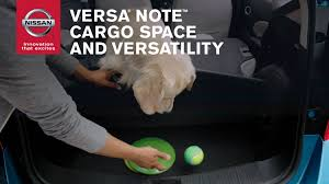 nissan leaf trunk space nissan versa note cargo space and versatility youtube