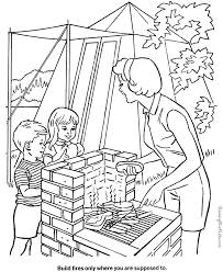 camping coloring pages coloring pages