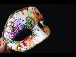 masquerade mask diy watercolour masquerade mask