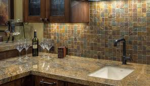 Rusty Brown Slate Mosaic Backsplash by 10sf Rustic Copper Linear Natural Slate Blend Mosaic Tile Kitchen