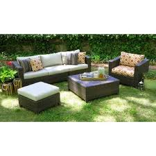 Patio Furniture Couch by White Wicker Patio Furniture Target