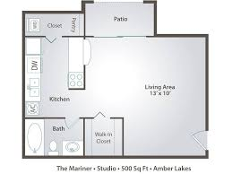 500 Sq Ft Studio Floor Plans Studio Apartment Floor Plans U0026 Pricing U2013 Amber Lakes Winter Park Fl