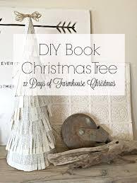 christmas christmas tree books diy diy book christmas tree decor day 5 of farmhouse christmas
