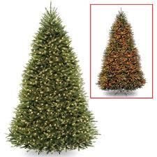 national tree pre lit 9 dunhill fir hinged artificial