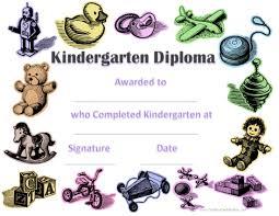 kindergarten certificates kindergarten graduation certificates