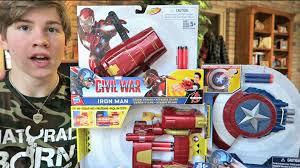 marvel captain america civil war blasters youtube