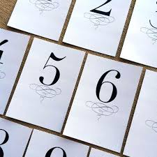 free table number templates printable table number printable wedding table numbers template