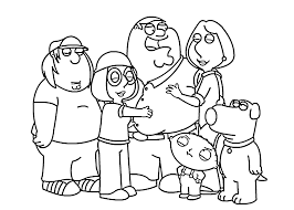 cartoon family at christmas coloring page coloring page