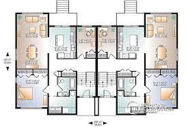 Duplex With Garage Plans 14 Single Story Duplex With Garage Multi Family House Plans For