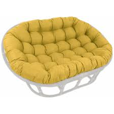 60 u0027 u0027 x 48 u0027 u0027 outdoor fabric tufted double papasan cushion dcg stores