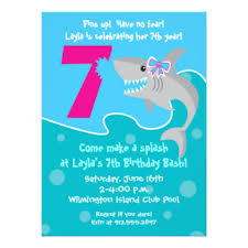 shark party invitations u0026 announcements zazzle