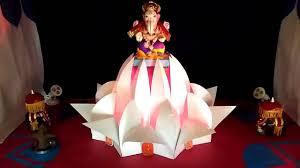 ganpati home decoration lotus temple youtube