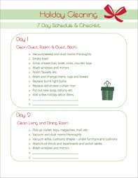 holiday cleaning help a printable schedule and checklist 5