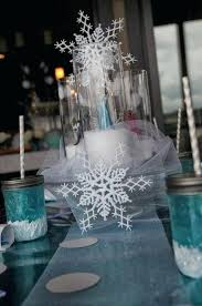 snowflake table top decorations snowflake table decorations macromode co