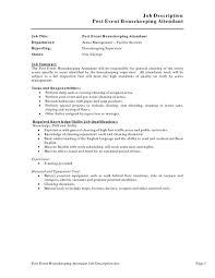 dining room attendant job description great house keeper duties on room attendant job description for