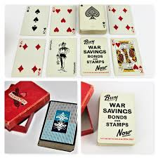 vintage deck of wwii 1940s hamilton congress playing cards with
