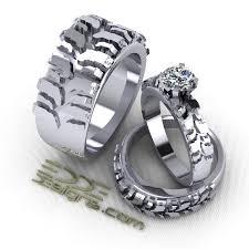 tire wedding ring wedding set 3 rings edde designs