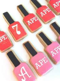 spa salon lipstick and nail polish cookie by yadkinvalleycookies