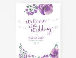 purple wedding programs instant printable wedding program template purple and