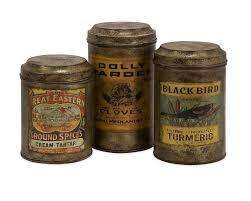imax addie vintage label 3 piece kitchen canister set u0026 reviews
