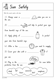 sun safety printable 2 health safety and citizenship skills