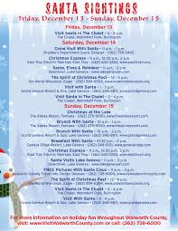 Wisconsin where to travel in december images Santa sightings jpg