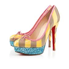 christian louboutin foraine 140mm platforms yellow stone new 1916