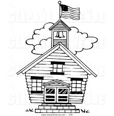 avenue clipart of a old fashioned one room house by