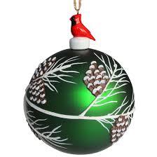 tree ornament 8 cm glass green rona