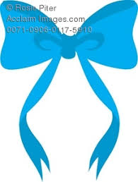 blue bows illustration of a blue bow