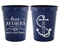 Love Anchors The Soulnautical Anchor - love anchors the soul nautical cup cup wedding cups custom cups