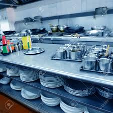 Designing A Restaurant Kitchen Motion Chefs Of A Restaurant Kitchen Stock Photo Picture And