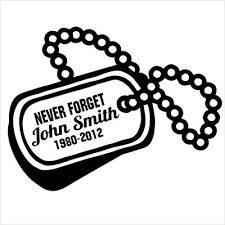 in loving memory dog tags dog tags soldier kia designer series decals in