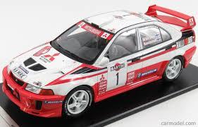 mitsubishi evo rally car tarmac t03 tm scale 1 18 mitsubishi lancer evo v wrc n 1 winner
