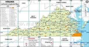 latitude map buy virginia latitude longitude map
