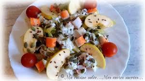 la cuisine de mes envies salade endives tzatziki pommes surimi i ma cuisine salée mes