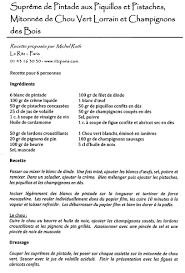 recette de cuisine recette recettes cuisine grand chef étoilé supreme chignons