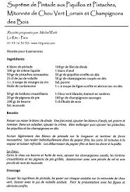 une recette de cuisine recette recettes cuisine grand chef étoilé supreme chignons