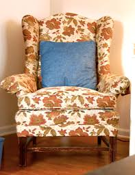 wingback chair slipcover modern floral wing chair slipcover